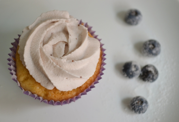 cupcake de mirtilo
